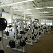 """Des tas de machines sont à la disposition de joueurs de foot épais et musclés (""""the gym"""")"""