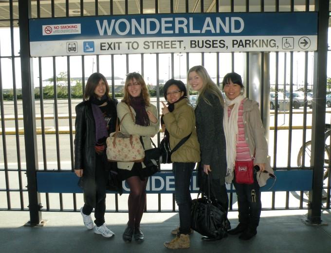 La station de métro d'où nous avons pris le bus
