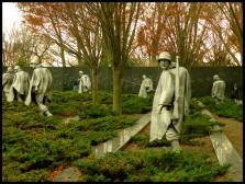 Le Korean War Veterans Memorial.J'ai trouvé ce mémorial assez dérangeant. Il aura au moins marqué les esprits comme il est de mise pour un monument de cette envergure...
